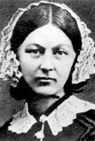 Black and white Florence Nightingale photo