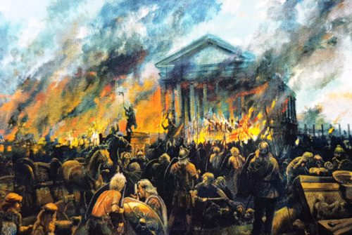 burning of temple
