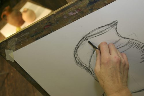 Sketching a pitcher